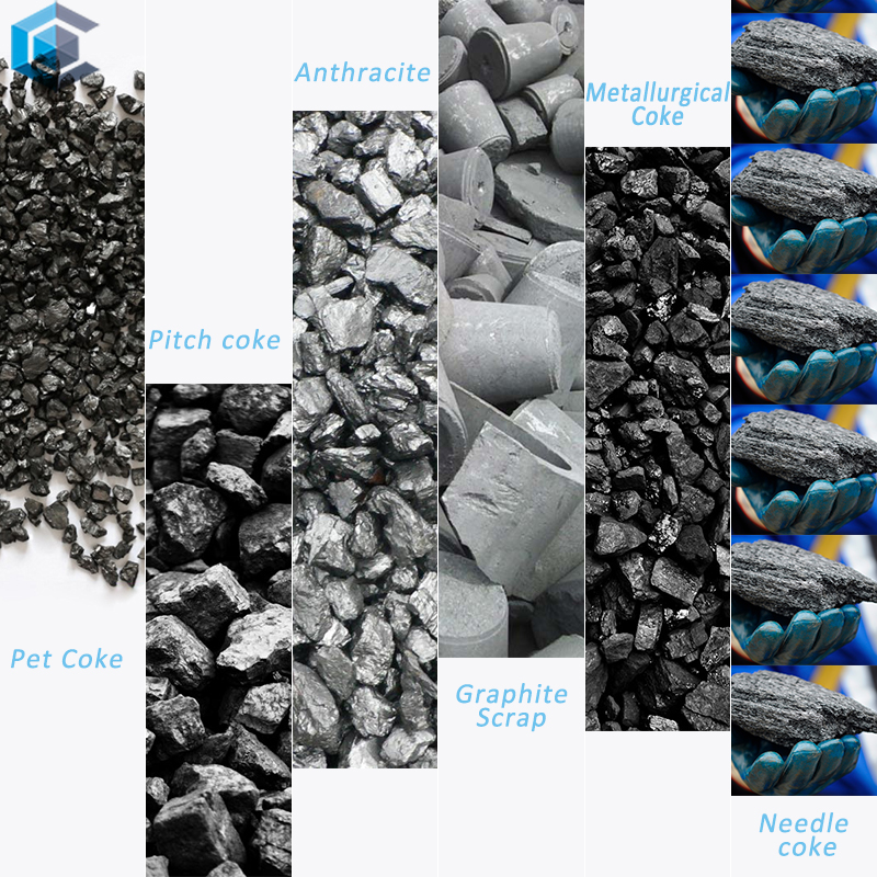 The performance comparison of various carbon raw materials